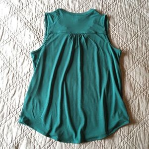 Banana Republic Tops - Banana Republic Green Teal Work Tank Medium Petite